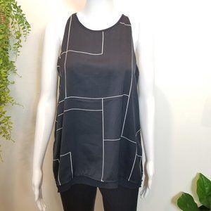 ⭐3 for $15 Willi Smith sleeveless navy blouse S